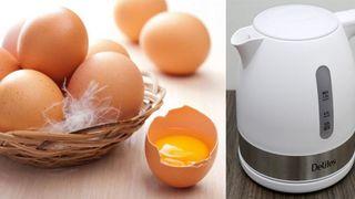 Có nên dùng bình đun siêu tốc để luộc trứng?