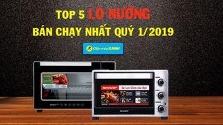 Top 5 lò nướng bán chạy nhất Điện máy XANH quý 1/2019