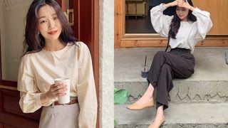 Áo blouse trơn màu đúng là chân ái của nàng công sở, có đến 10 cách diện mà cách nào cũng sang xịn hết cỡ