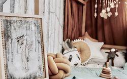 """Phòng cho bé được trang trí đẹp """"lịm tim"""", hơn nữa chất liệu sử dụng để trang trí lại còn vô cùng thân thiện với môi trường"""