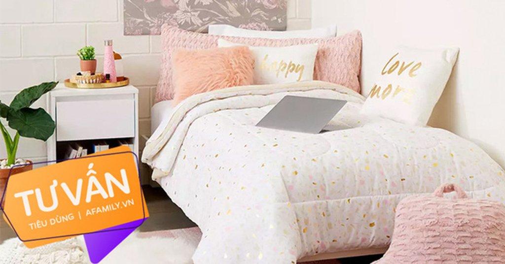 """Tư vấn """"make-up"""" cho phòng ngủ gái độc thân theo phong cách công chúa, đồ nội thất mua online 100% mà chi phí chỉ 1,5 triệu"""