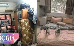 Dùng 20 triệu, cô gái hô biến căn hộ tập thể cũ 9m² dột nát, tường mốc bong tróc thành không gian sống thoáng đãng