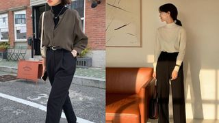 Gái Hàn diện quần đen rất nhiều nhưng luôn xịn đẹp chứ không nhàm chán, đó là vì họ có 4 tips
