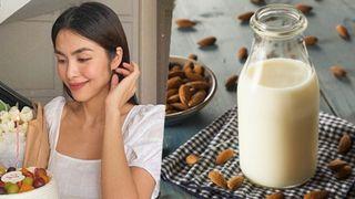 Học Tăng Thanh Hà tự làm sữa hạnh nhân uống hàng ngày, chị em nào rồi cũng sẽ có da đẹp và dáng xinh