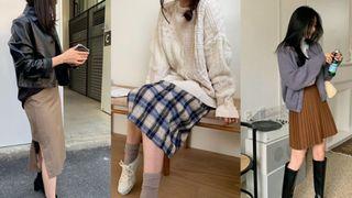 5 cặp chân váy + giày được hội sành mặc áp dụng nhiều nhất mùa lạnh vì giúp style lên tầm một cao mới