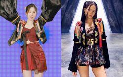 """Biến lớn cuối năm: Dahyun (Twice) đạo trang phục của Jisoo (BLACKPINK) nhưng diện lên """"phèn"""" hơn mấy lần"""