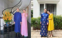 Hà Tăng diện áo dài Tết: Mỗi năm đổi một bộ, riêng ông xã chỉ có 2 bộ xoay vòng