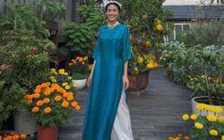 Sao Việt đọ dáng với áo dài: Hà Tăng, Lan Ngọc đội mấn trẻ trung, Quỳnh Anh Shyn diện áo trễ vai gợi cảm