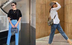 """4 """"cao thủ"""" diện quần jeans của Vbiz, chị em mà tham khảo thì năm mới không bao giờ thiếu ý tưởng mặc đẹp"""