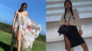 """Khi diện váy dài, Jennie thường làm một điều để không bao giờ hóa nấm lùn và chân được kéo """"ảo tung chảo"""""""