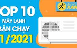 Top 10 máy lạnh bán chạy nhất tháng 01/2021 tại Điện máy XANH
