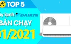 Top 5 Máy lạnh Daikin bán chạy nhất tháng 01/2021 tại Điện máy XANH