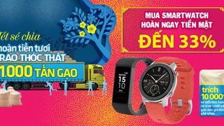 Top 5 đồng hồ thông minh giảm đến 33%, có mẫu giảm đến 3.6 triệu, mua ngay!