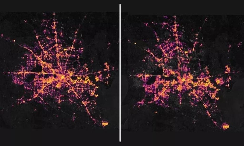 Thảm cảnh mất điện ở Texas nhìn từ vũ trụ