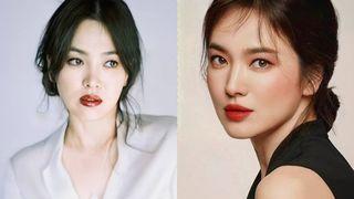 """Nhìn Song Hye Kyo makeup nhạt đã quen, nhưng nhìn cô """"biến hình"""" makeup đậm qua ảnh của fan thì bạn sẽ ngỡ ngàng"""